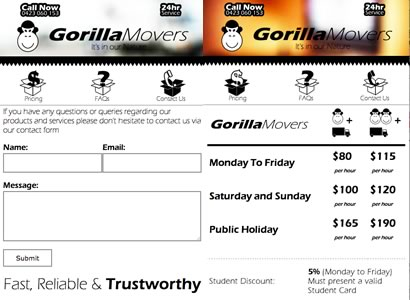 Gorilla Movers Mobile App